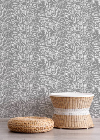 Plume - Charcoal Wallpaper - JULIANNE TAYLOR STYLE
