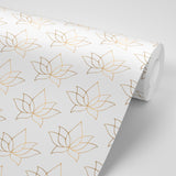 Lotus - Golden Taupe Wallpaper - Bohemian Bungalow Collection