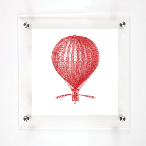 """LUNARDI BALLOON"" in SCARLET 8""x8"""