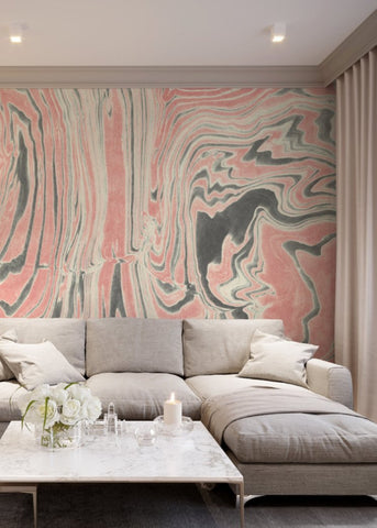 Rose Ring Marble  Wallpaper - Mitchell Black Murals