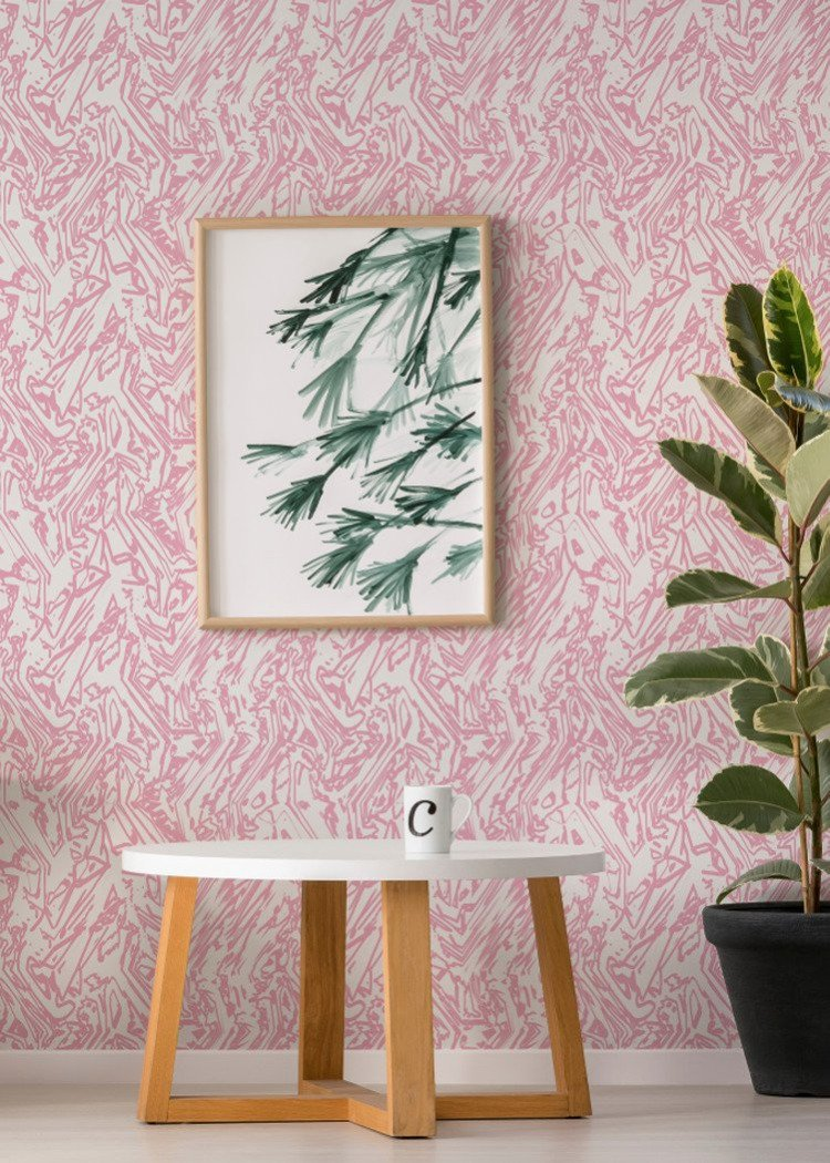 Marble - Baby Pink  Wallpaper - The Blush Label