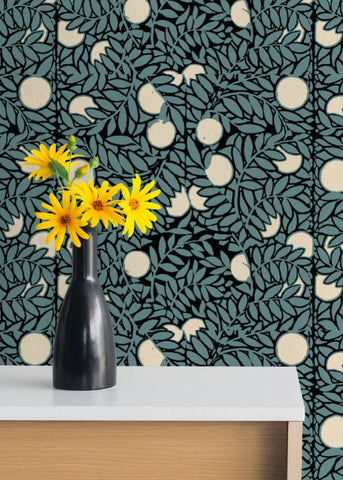 LUCKY Orange Grove - Blue/Cream Peel & Stick Wallpaper - MB SIGNATURE
