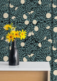 Orange Grove - Blue/Cream Wallpaper - MB SIGNATURE