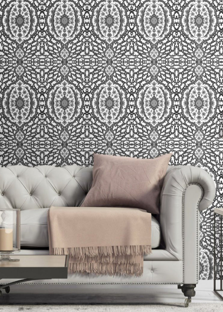 Ottoman Jewel - Greys Wallpaper - Nomad Collection