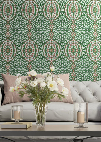 Ottoman Jewel - Kelly Green Wallpaper - Nomad Collection