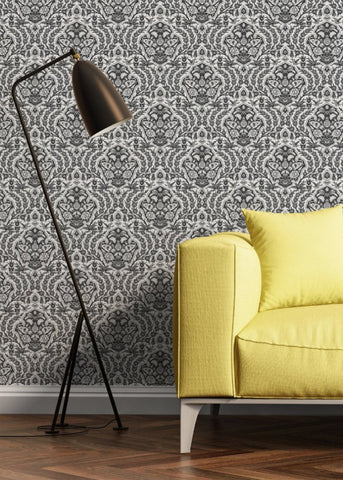 Ottoman Small - Greys Wallpaper - Nomad Collection