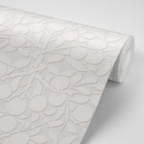 Peach on the Vine - Silver Wallpaper - MB SIGNATURE