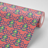Pineapple Pop - Tiki Drink Wallpaper - JULIANNE TAYLOR STYLE