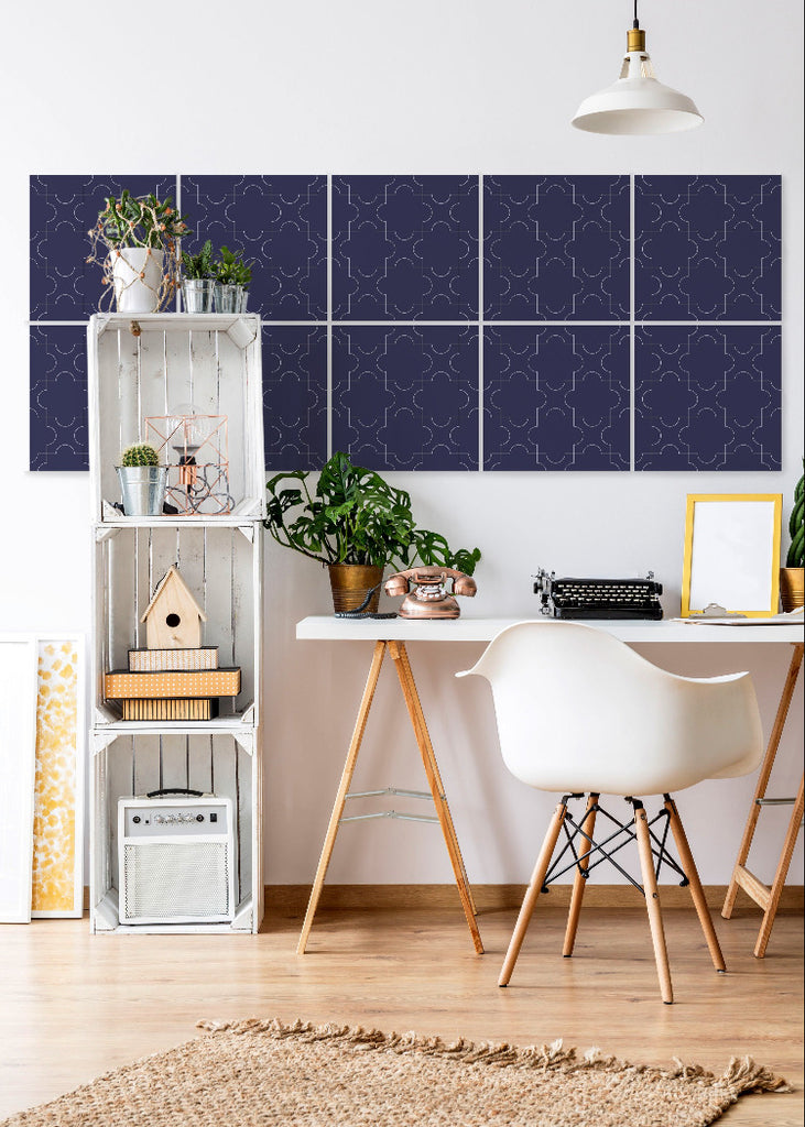 Wall Tile Puzzles in Blue