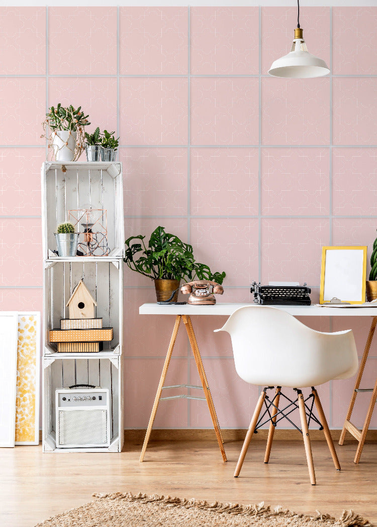 Wall Tile Puzzles in Pink