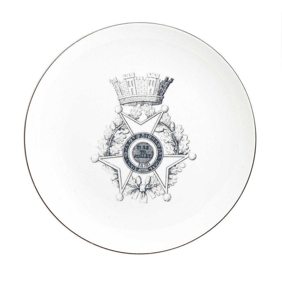 """MEDALLION CASTLE"" Set of 4 SALAD PLATES"