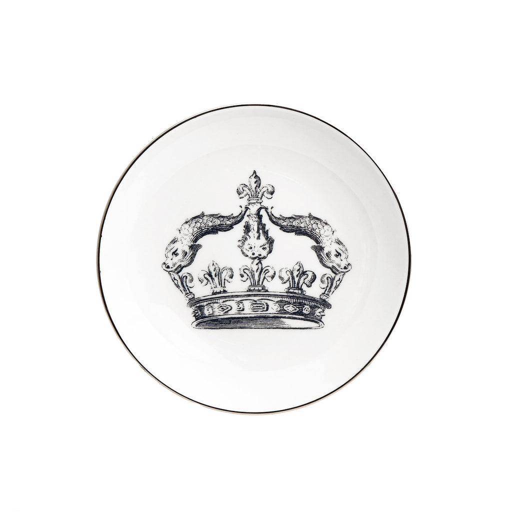 """CROWN"" Set of 4 APPETIZER PLATES"