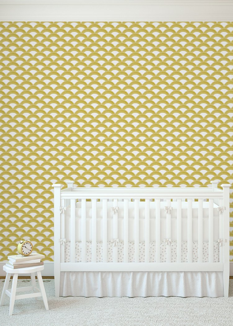 Rainbows - Golden Wallpaper - MB BABY