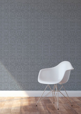 Rosettes - Grey Wallpaper - MB SIGNATURE