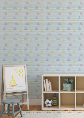 Sailboats - Popsicle Wallpaper - MB BABY