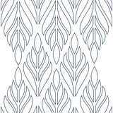 Deco Palm - Sapphire Blue Wallpaper - Bohemian Bungalow Collection