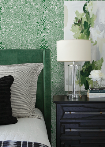 Shagreen - Signature Green Wallpaper - Mrs Paranjape Papers