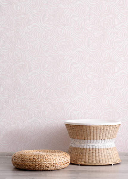 Plume - Blush Wallpaper - JULIANNE TAYLOR STYLE