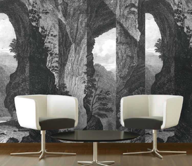 Mountain Mural - Organic Wallpaper Collection