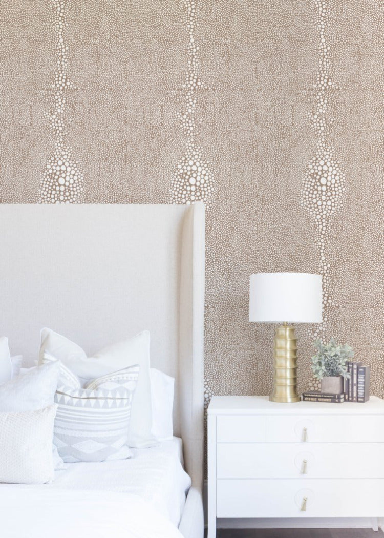 Shagreen - Truly Taupe Reverse Wallpaper - Mrs Paranjape Papers