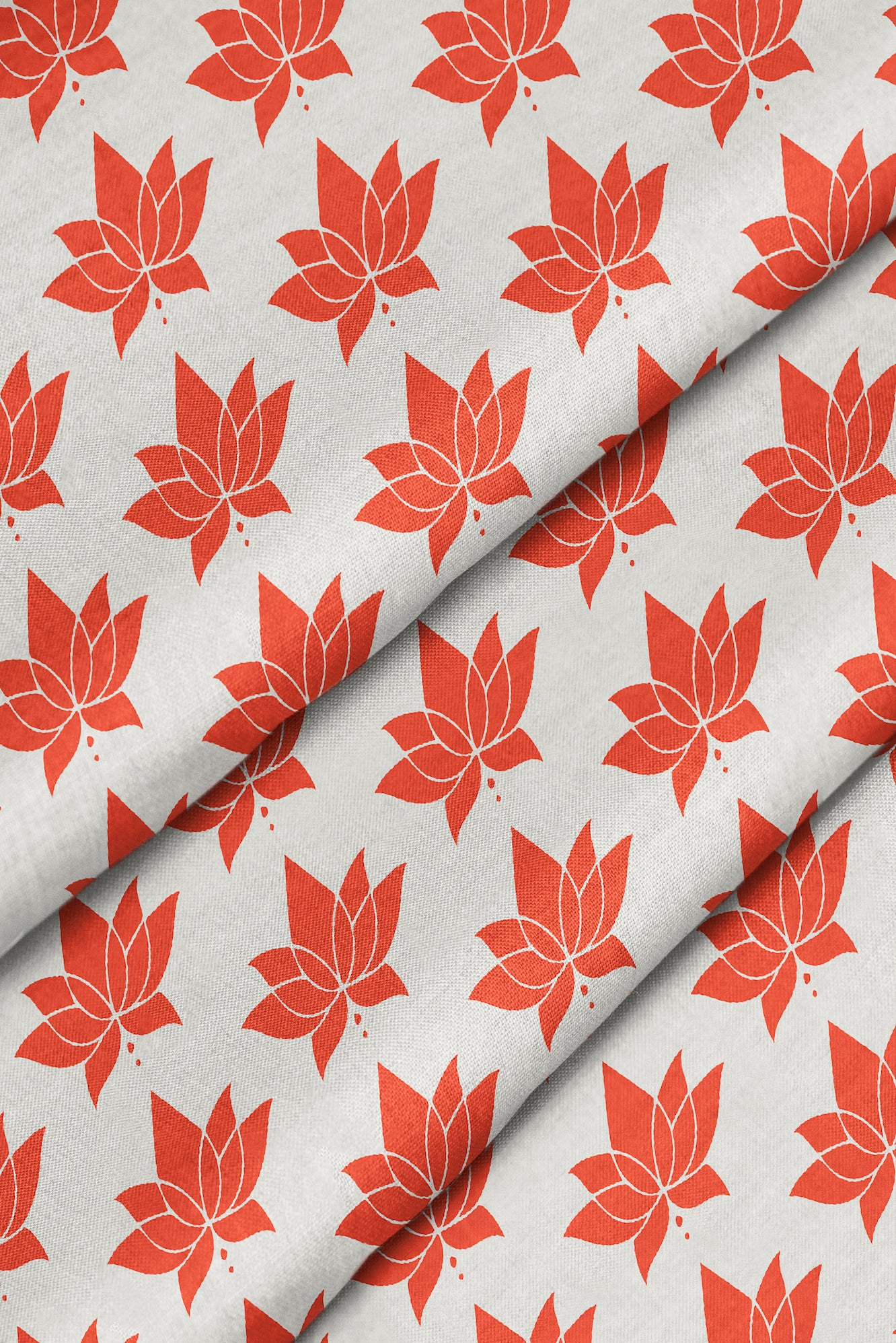 Lotus Small Fabric - Coral