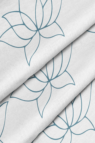 Lotus Fabric - Dusty Blue