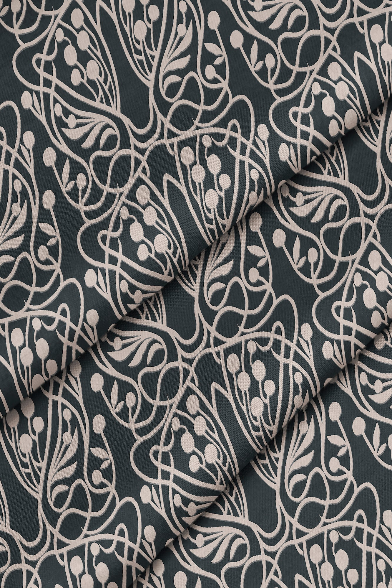 Vineyard Small Fabric - Black & Blush