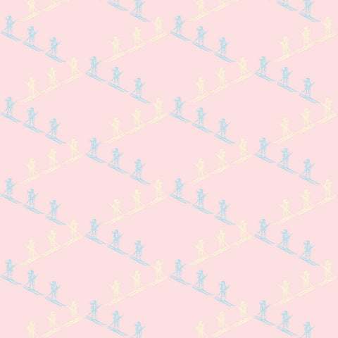 Ski Slope - Baby Pink Wallpaper - MB BABY