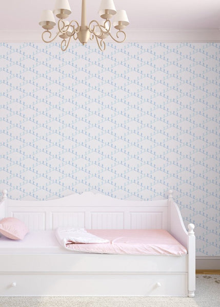 """SKI SLOPE"" in Winter REMOVABLE WALLCOVERING"