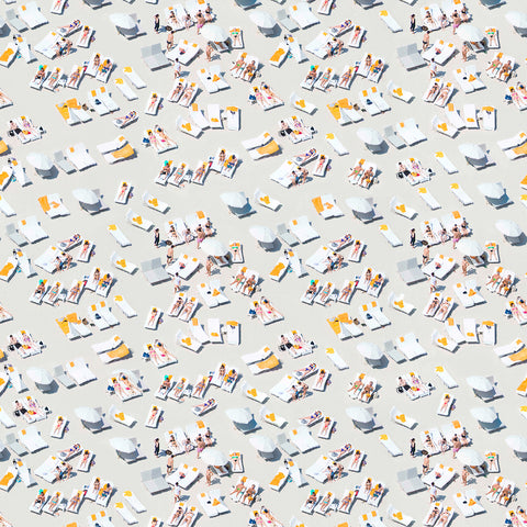 QUICK SHIP - The Sunbathers Pre-Pasted 10ft Wallpaper