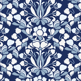 Snapdragon - Navy Blue Wallpaper - Nomad Collection