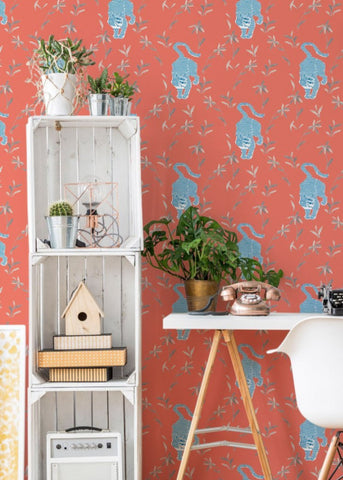 Stalking Tiger - Cayenne Wallpaper - Nomad Collection