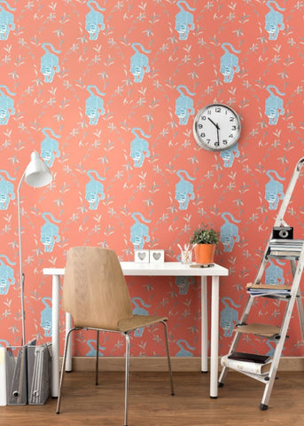 LUCKY Stalking Tiger Wallpaper - Cayenne Wallpaper  - Nomad Collection