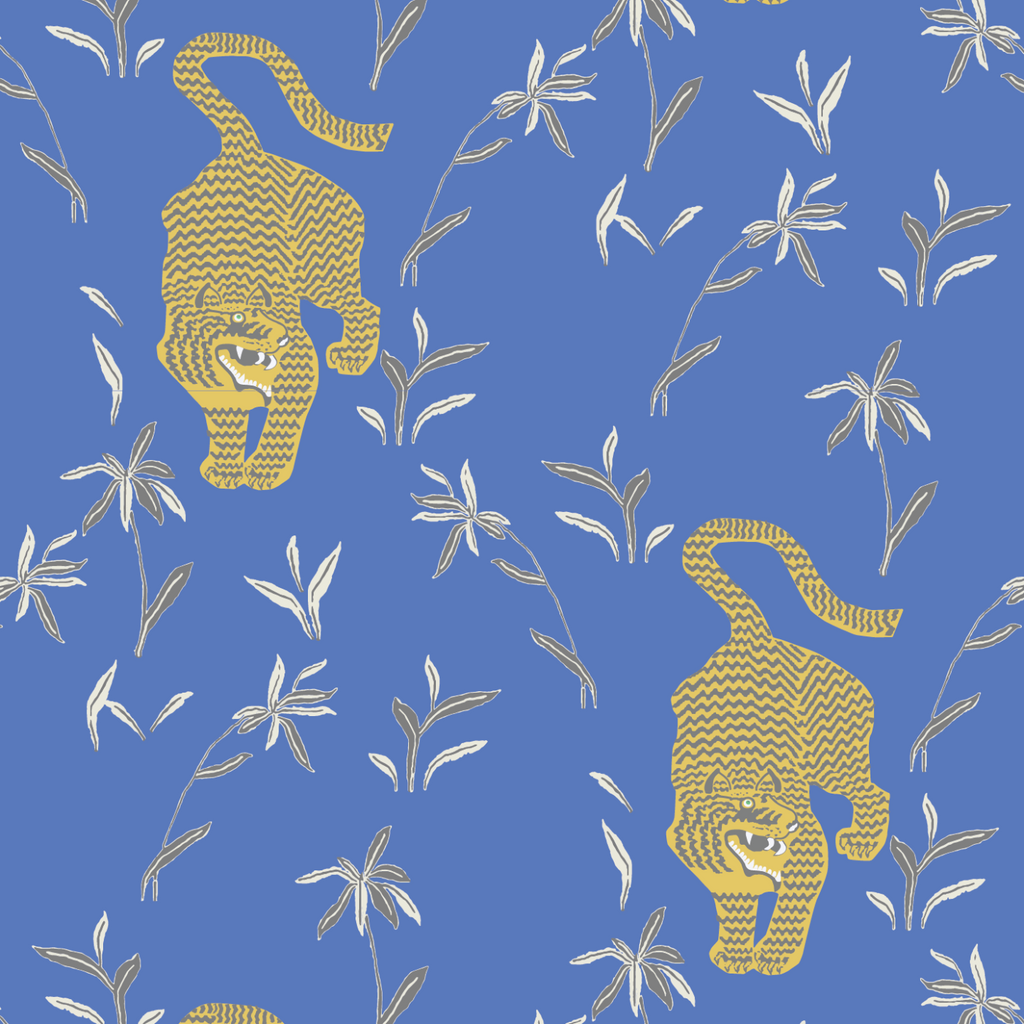 Stalking Tiger - Royal Wallpaper - Nomad Collection