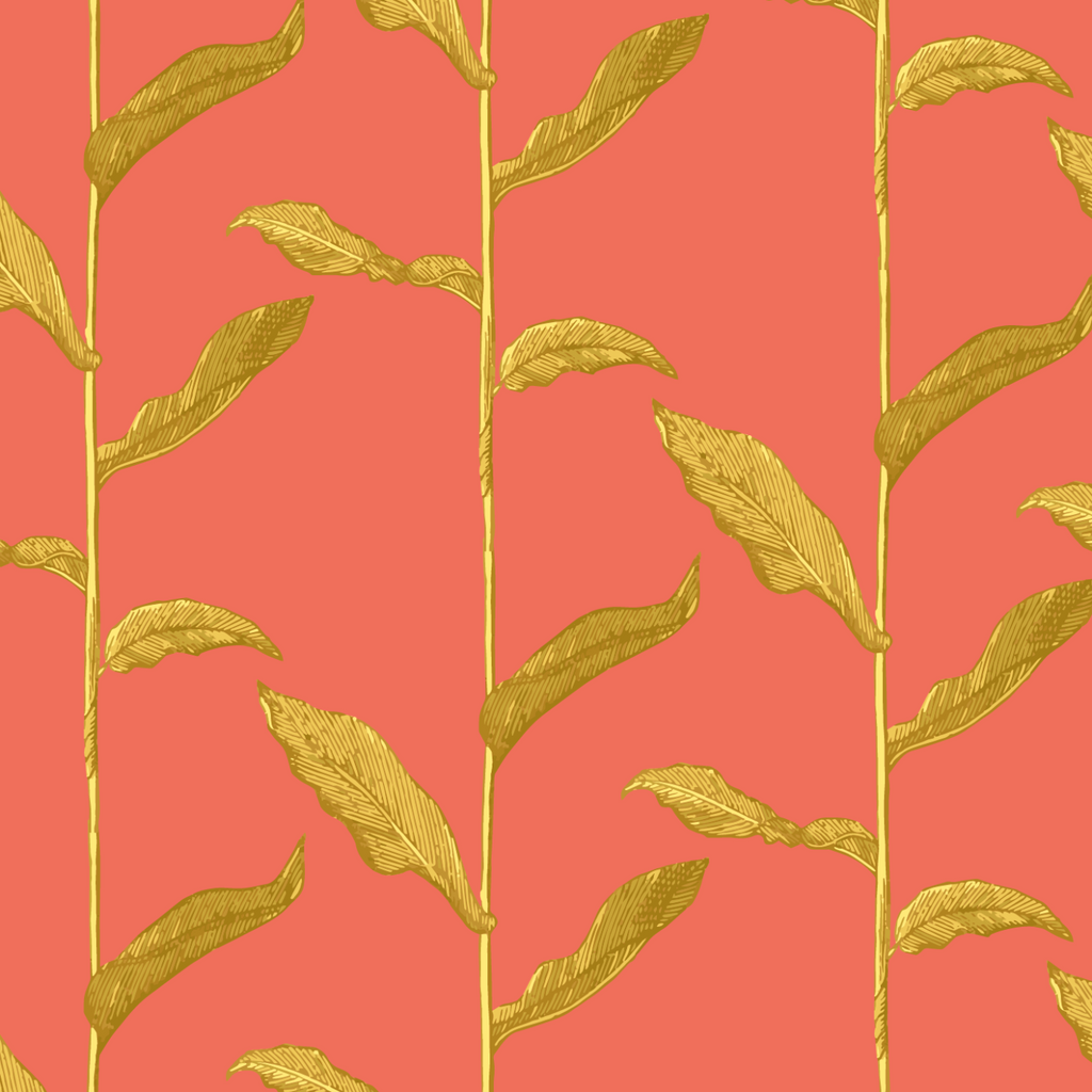 LUCKY Stalks - Golden Cayenne Peel & Stick Wallpaper - Nomad Collection