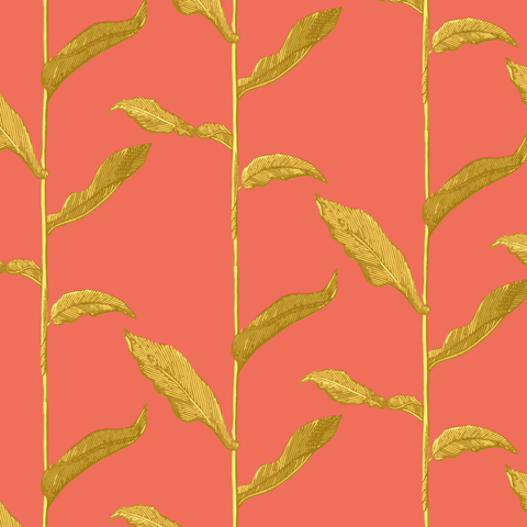 Stalks - Golden Cayenne Wallpaper - Nomad Collection