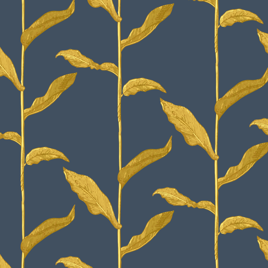 Stalks - Golden Night Wallpaper - Nomad Collection