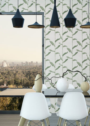 LUCKY Stalks - Linen Wallpaper - Nomad Collection