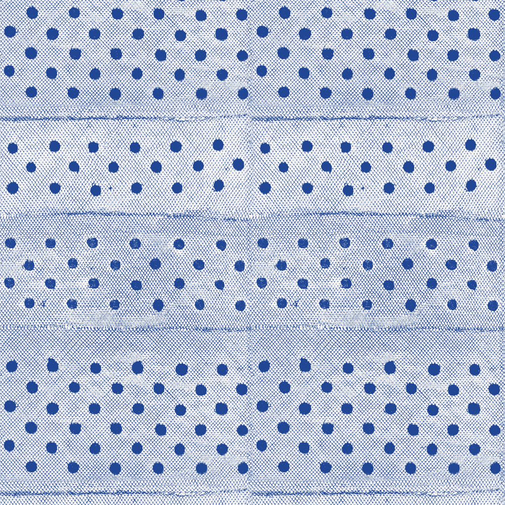 Stitched - Yves Blue Wallpaper - Mrs Paranjape Papers