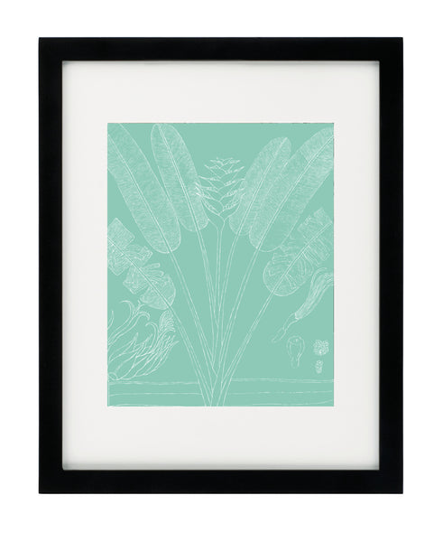 Summer Botanical - Teal - Framed Art