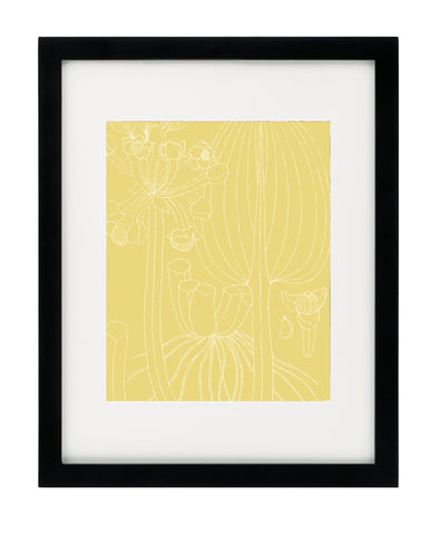 Summer Botanical - Yellow - Framed Art