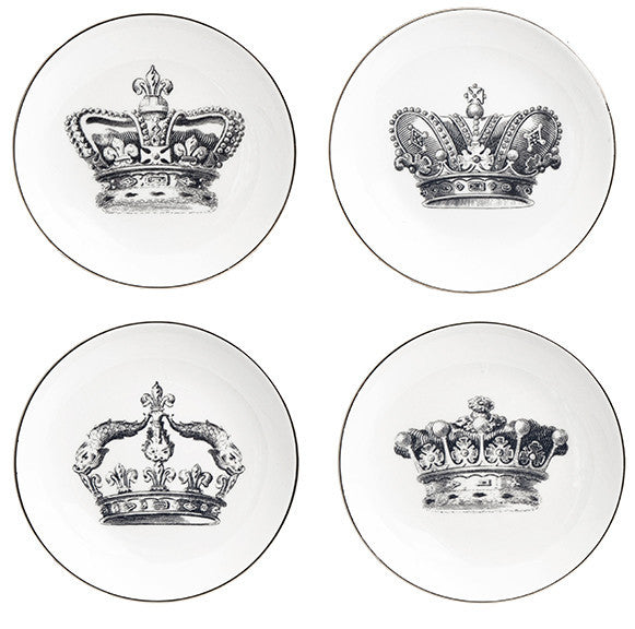Crown Set of 4 Plates