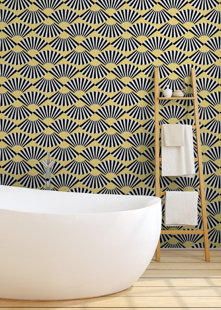 Fanning Out - Butter Wallpaper - JULIANNE TAYLOR STYLE