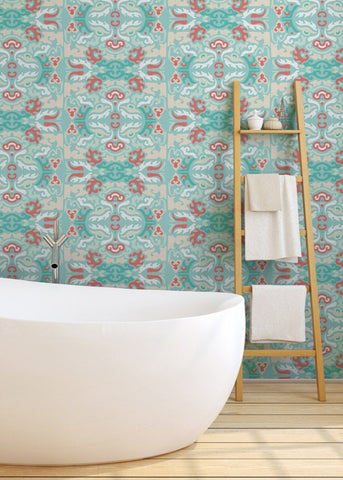 LUCKY Foo You Looking At - Coral Reef Wallpaper - JULIANNE TAYLOR STYLE