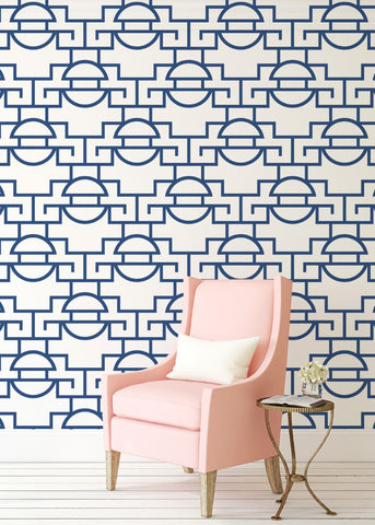 Just Too Graphic - Blueberry Wallpaper - JULIANNE TAYLOR STYLE