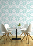 Just Too Graphic - Cooled Blue Wallpaper - JULIANNE TAYLOR STYLE