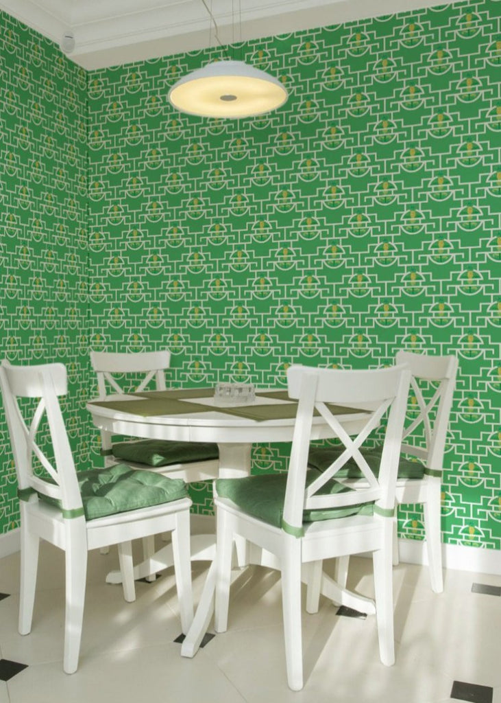 Pineapple Pop - Leaf Wallpaper - JULIANNE TAYLOR STYLE