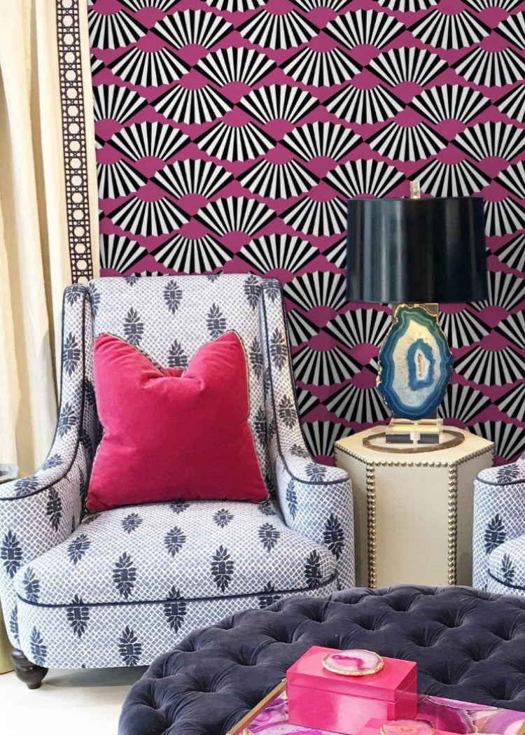 Fanning Out - Berry Wallpaper  - JULIANNE TAYLOR STYLE