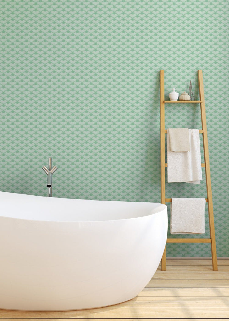 Don't Be Koi - Sea Glass Wallpaper - JULIANNE TAYLOR STYLE