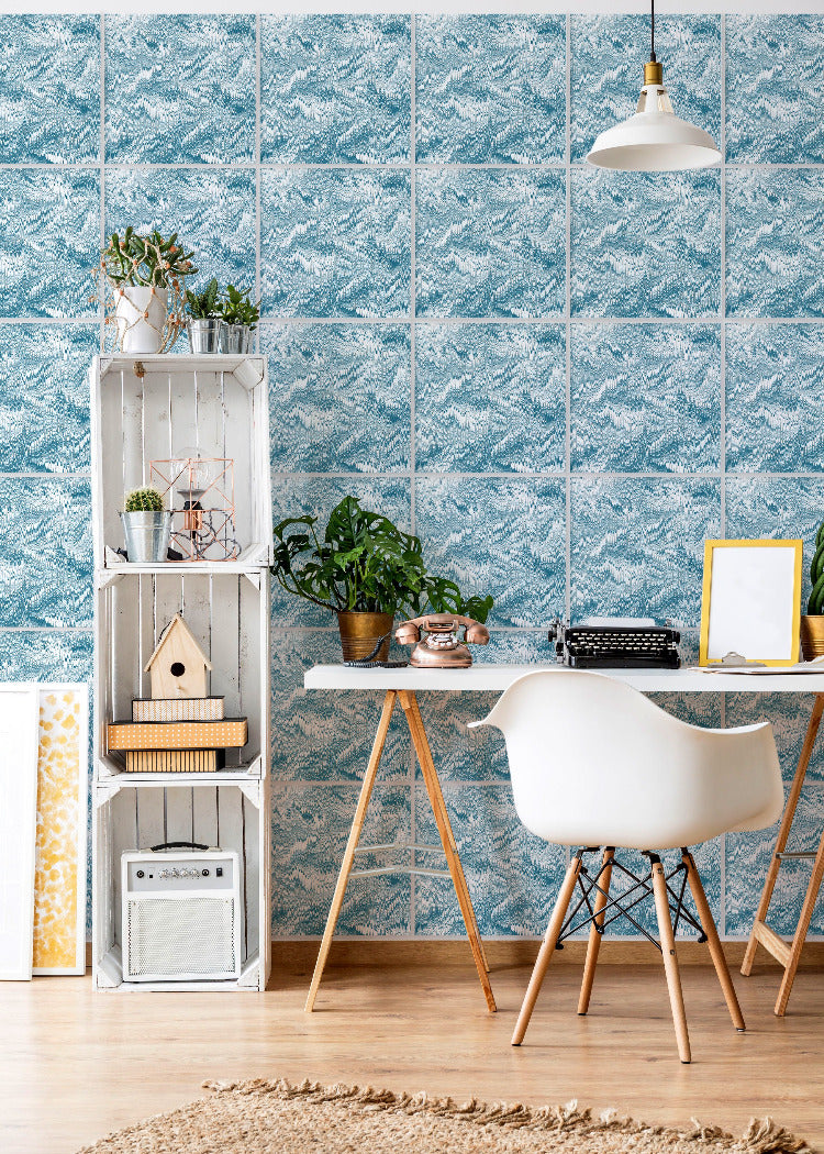 Wall Tile Marble in Teal